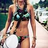 Top Hang High Neck Bikini Set 3