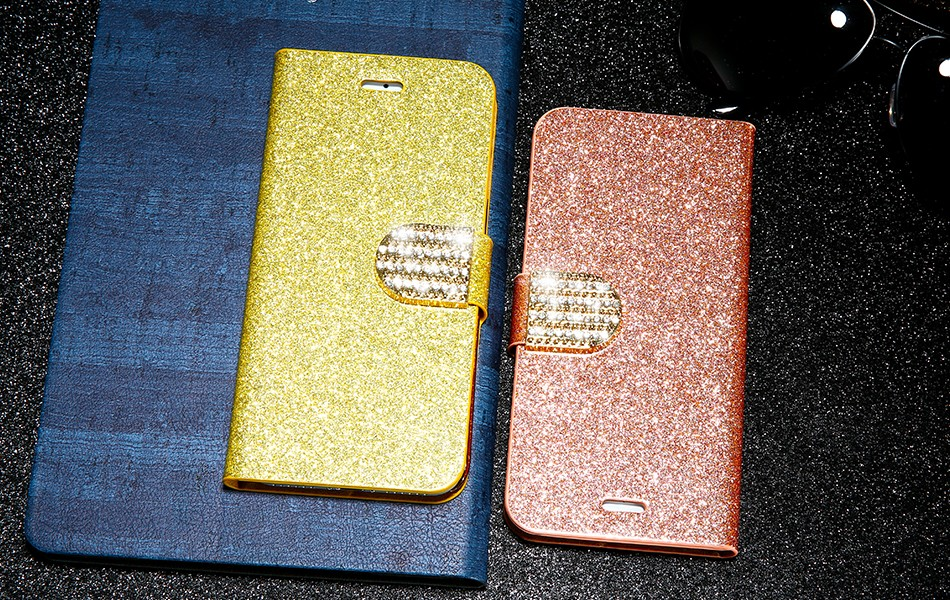 FLOVEME Luxury Bling Diamond Glitter Flip Case for Apple iphone 6 6S 7  Plus 5.5 Leather Girl Bag Wallet Stand Rhinestone Cover (10)