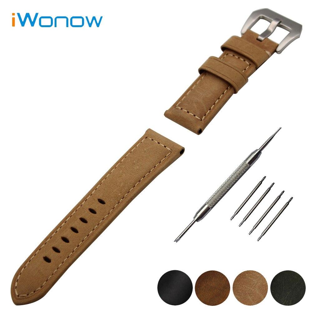 Echtes Leder Uhrenarmband 22mm für Vector Luna/Meridian, für xiaomi smartwatch huami amazfit...