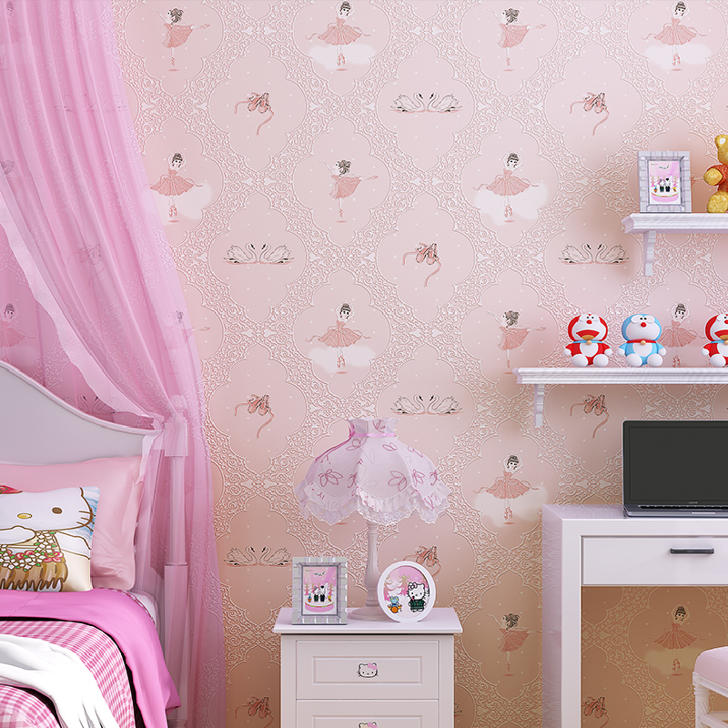 3D Self Adhesive Wallpapers Dancing Girls Wallcoverings Vintage decal for Kid Room Wallpaper &Wall Paper papel de parede 5 Meter mc7812 induction tobacco moisture meter cotton paper building soil fibre materials moisture meter