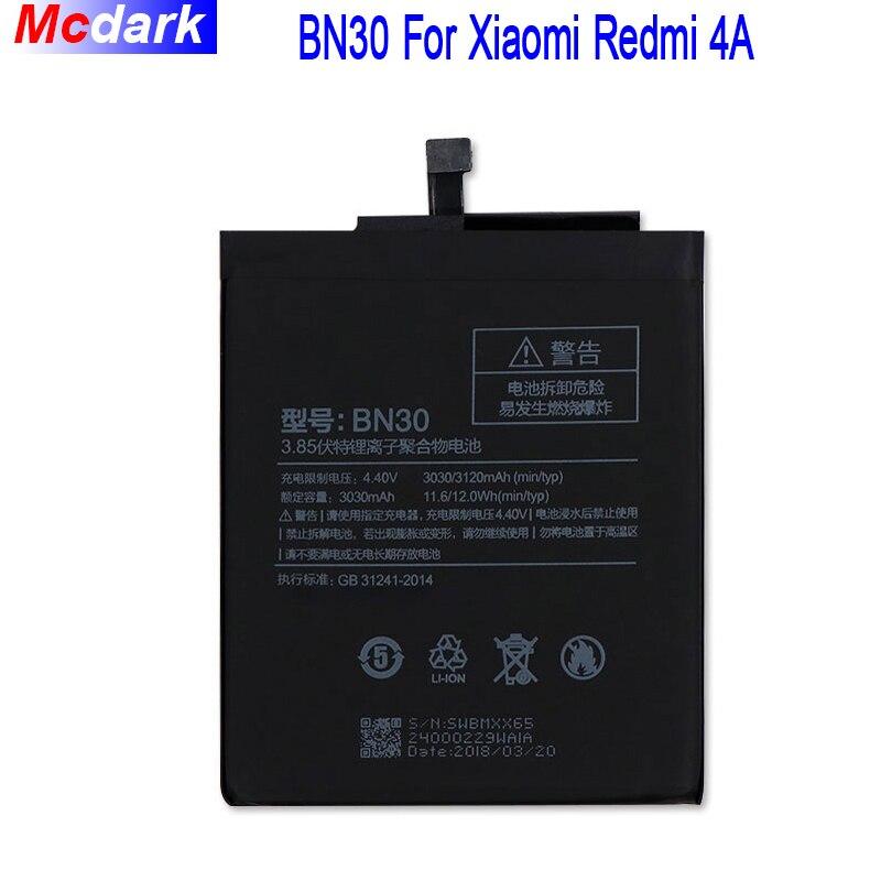Battery-Replacement 3030mah-Battery Smart-Phone BN30 Xiaomi Redmi For Newest Li-Ion Hongmi-4a
