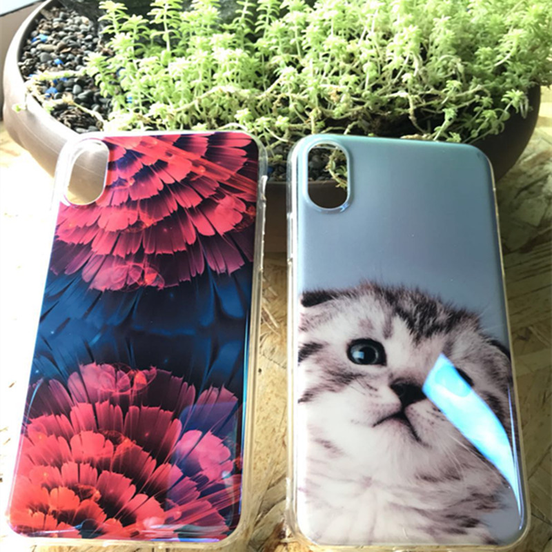 Blue Ray Patterned Iphone 6S 6 7 8 Plus Soft Silicone Cute Back Cover Cases For Iphone X