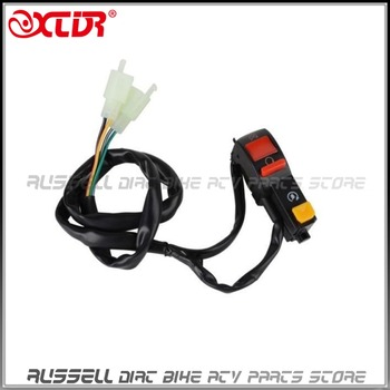Zabić przełącznik elektryczny przycisk START 4 drutu połączenia dla małpy rowery pit bike i quady ATV Off-Road tanie i dobre opinie TD130 0inch 0 12kg 2 2cm PLASTIC RUBBER PLASTIC KILL SWITCH + ELECTRIC START BUTTON XCDR