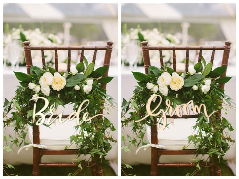 Деревенский Жених и невеста деревянный знак для свадьбы Председатель украшения поставки, деревянные письмо для украшения гирлянды