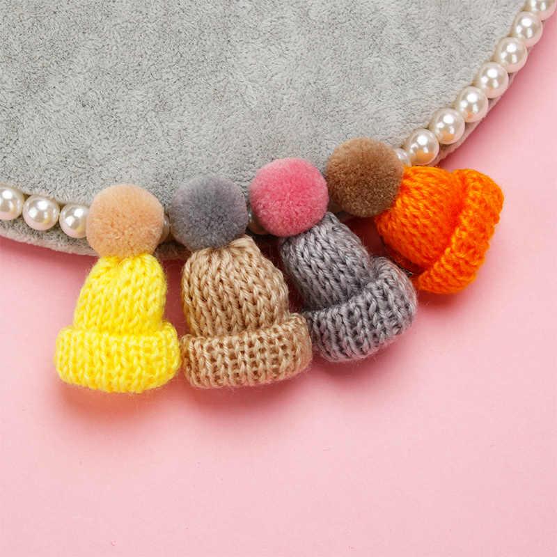 18 - สีน่ารัก mini - ถักหมวกขนสัตว์เข็มกลัดเสื้อกันหนาว pin badge กระเป๋าหมวกปลอกคอ creative girl อุปกรณ์เสริมคริสต์มาสของขวัญ
