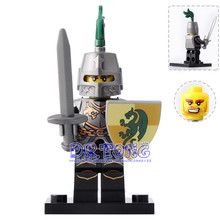DR.TONG 20pcs/lot XH519 Dragon Knight Mini Bricks Super Heroes Medieval Castle Knights Rome Building Blocks Diy Toys Child Gifts