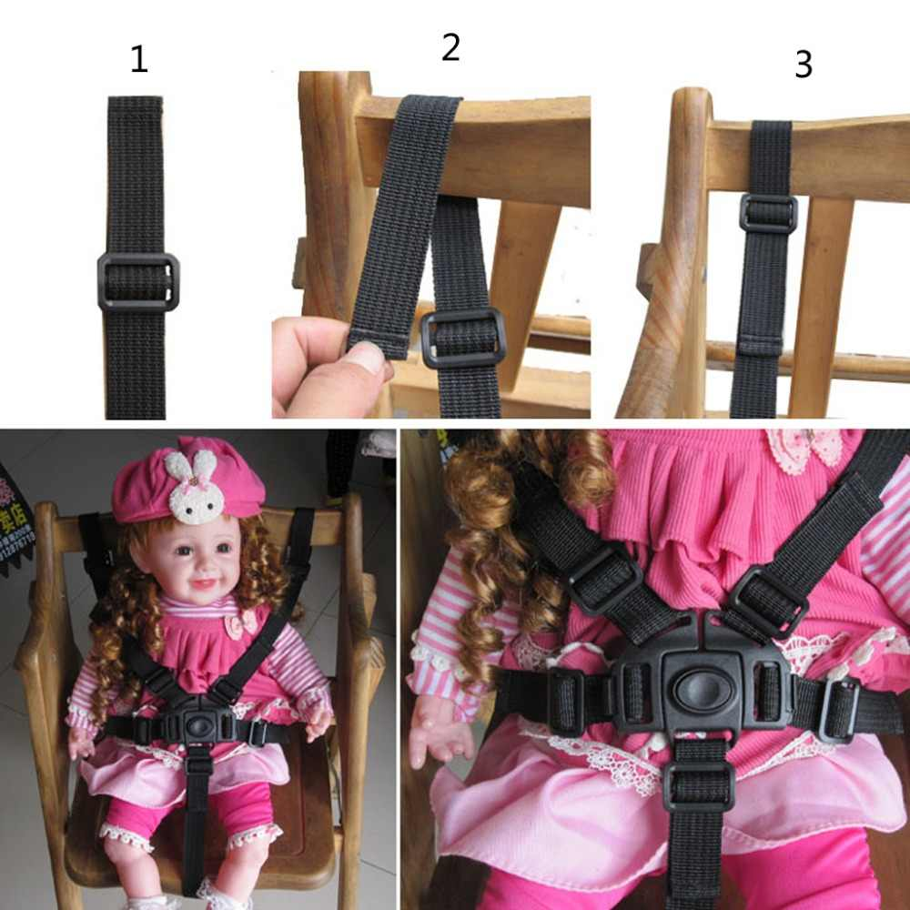 1pc เด็กป้องกันที่นั่งรถเข็นเด็กเข็มขัด 5 จุดเข็มขัดนิรภัยที่นั่งสำหรับรถเข็นเด็กเก้าอี้สูงรถเข็นเด็ก Buggy เด็กเด็กรถเข็นเด็ก