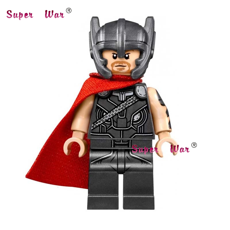 20pcs star wars super hero comics model kits Avengers Thor Hammer building blocks bricks classic learning education baby toy
