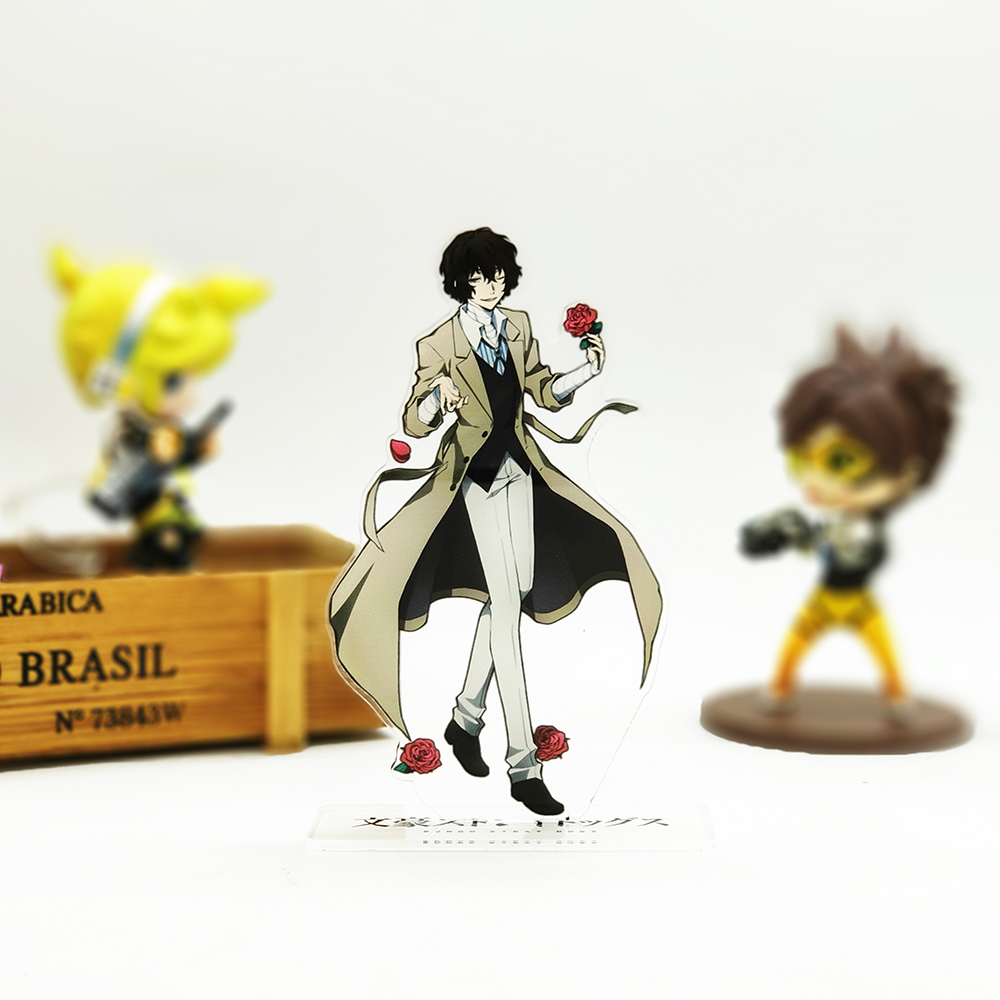 Love Thank You Bungou Stray Dogs Dazai Osamu Acrylic Stand Figure Model Double-side Plate Holder Cake Topper Anime