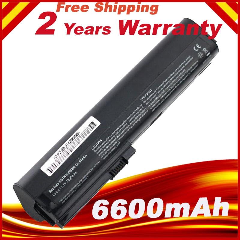 9cell 7800mah Laptop Battery for HP SX09 HSTNN-DB2M DB0S 2560p 2570p SX03 bateria akku