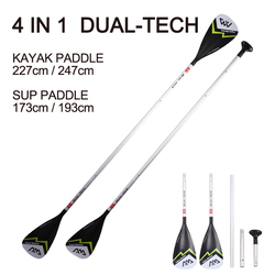 AQUA MARINA aluminium double paddle DUAL TECH kayak inflatable boat sup board stand up paddle surfing surfboard oar T handle