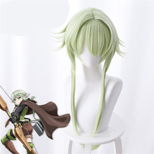 Goblin Slayer Yousei Yunde Cosplay Wig 80cm Green Heat Resistant Synthetic Hair Perucas Cosplay Wigs стоимость