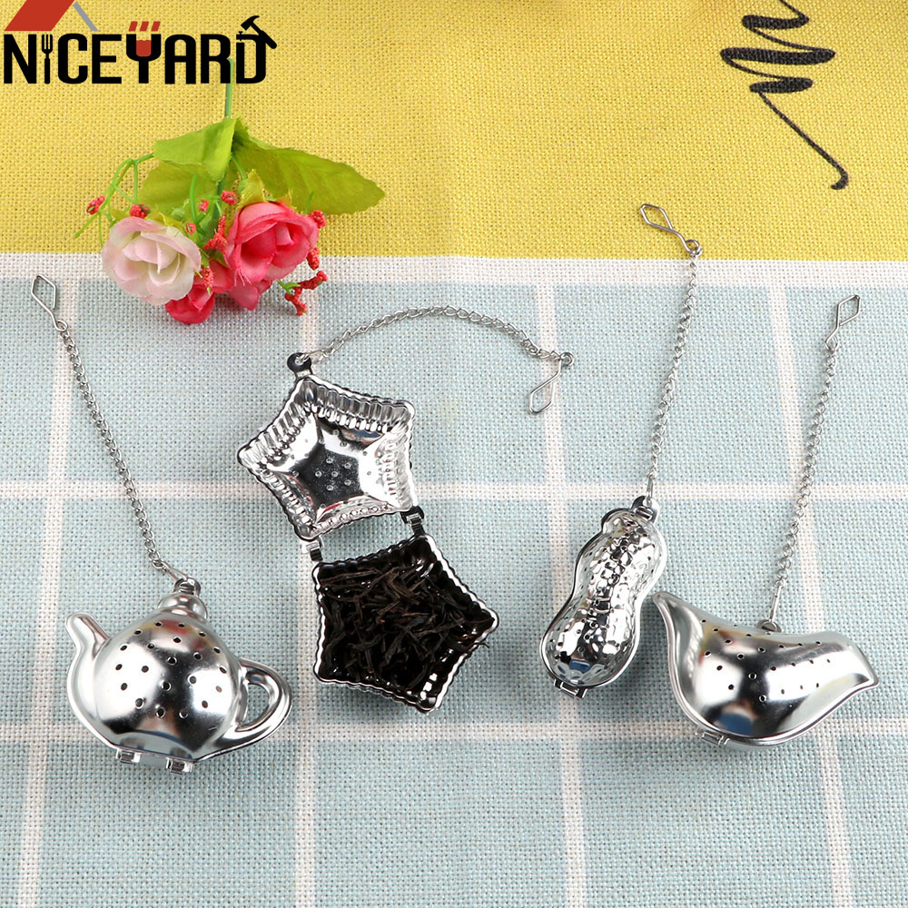 NICEYARD Metal Tea Bag Peanut / Bird / Teapot / Shell Tea Infuser Filter Tea Strainer Ball Reusable Stainless Steel Teapot