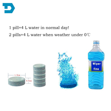 New arrival auto windscreen cleaner  car glass washer pills effervescent tablets cleaning agent 6 pieces/set