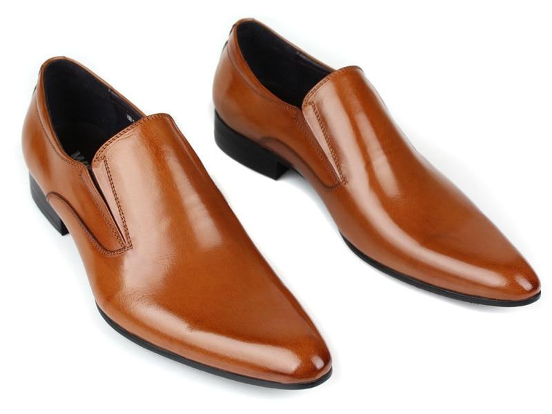 De Véritable Simples En Cuir or Sport Des Hommes Noir Bout orange Britanniques Robe Pointu Chaussures D'affaires tzwwvAgrqW