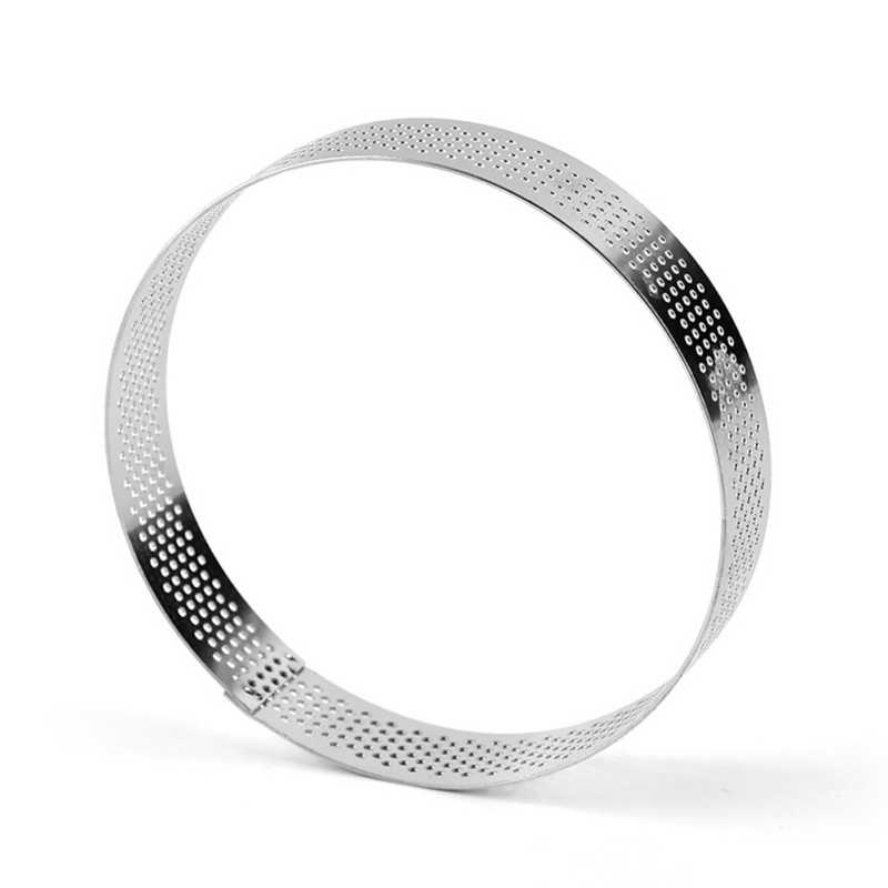6-10 Cm Round Perforated Breathable Mousse Cake Ring Non-stick Stainless Steel Cake Ring Cake Tool, Breathable Cake Ring