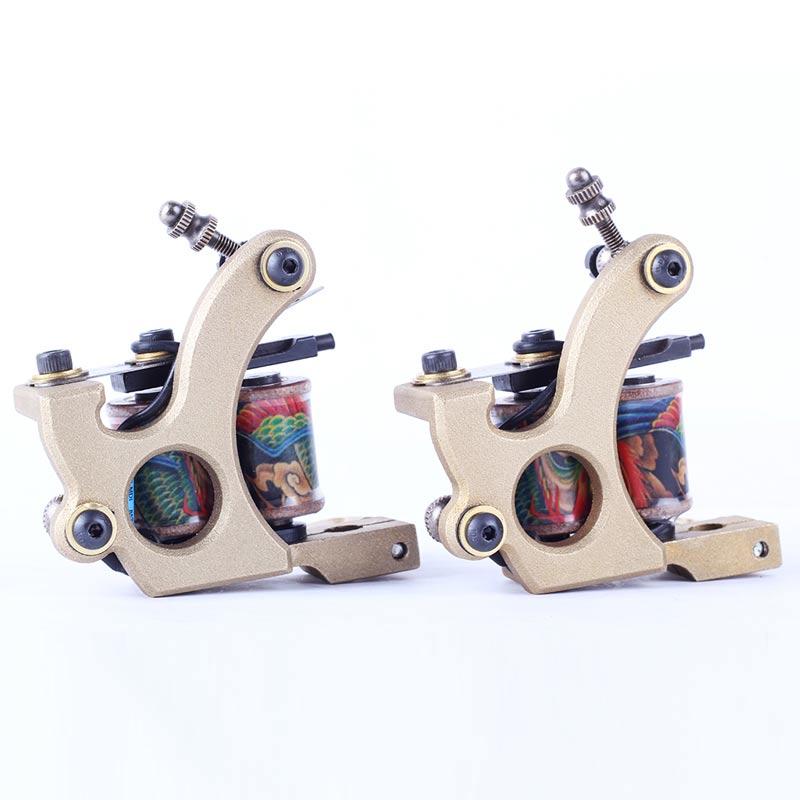 Besta 2017 bobine Machines à tatouer 2 pièces revêtement de mitrailleuse de tatouage et Shader avec coffrets cadeaux alimentation de tatouage