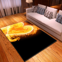 Soft Flannel Flame Heart 3D Carpets for Living Room Bedroom Area Rugs Romantic Valentine's Day Decor Rugs Home Large size Mats