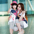 2016 Summer family clothing sets boy girl clothing kids clothes for mother and daughter son Leisure set clothes 100% cotton
