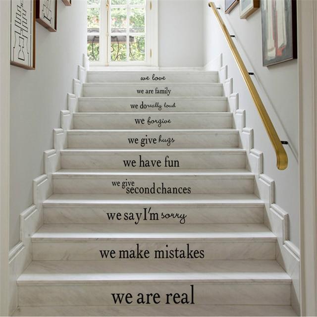 Englisch Sprche Pvc Wandaufkleber Stairway Dekor Tapete Kunst Aufkleber Wohnzimmer Wand Dekorative Vinyls Keramikfliesen