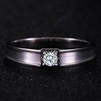 0.20ct GIA кольцо с бриллиантом для мужчин Solitaire натуральный бриллиант GIA Solid 18 К белого золота ручной работы свадебные обручение ювелирные издел