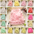Good quality Baby dress Casual Girls Top Kids Lace Bow Princess Long Sleeve Dresses toddlers Clothes More 20 styles