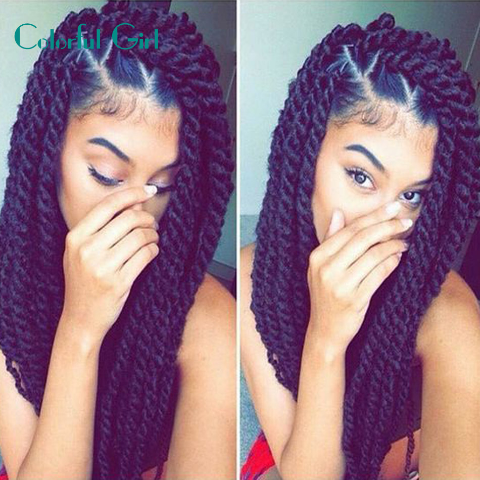 24inch 12roots Crochet Braid Hair Senegalese Twist Ombre