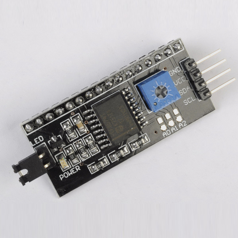 5pcs LCD1602 Converter Board IIC/I2C/TWI/SPI Serial Interface Module for 1602 LCD Display for Arduino IIC I2C Serial Port