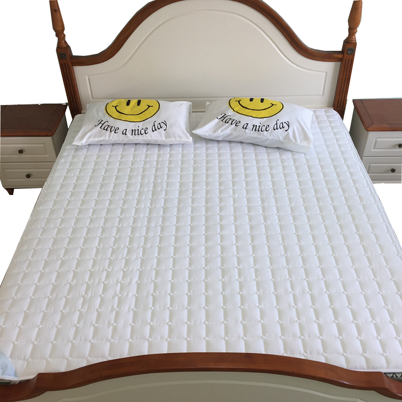 Solid mattress pad/cover sanding fabric <font><b>bed</b></font> protection pad Twin/Single/Queen/Full/Double/King Size padded non-slip bedspread