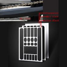 Наклейка на велосипедную раму s велосипедная цепь защитная лента наклейка MTB Дорожная Защитная пленка для велоспорта устойчивая к царапинам защитная накладка