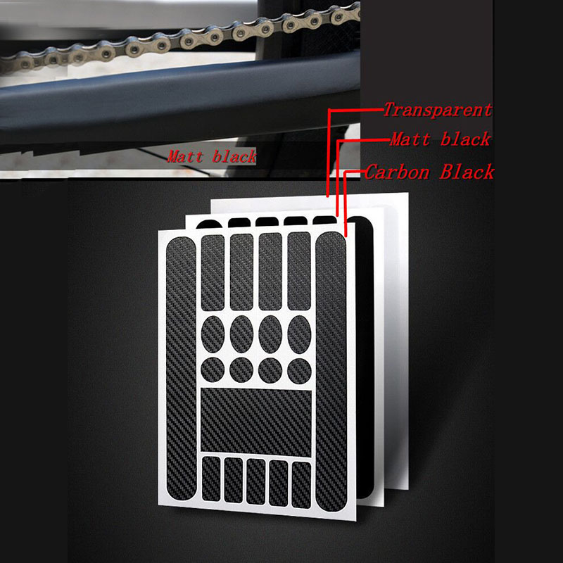 Bike Frame Stickers Bicycle Chain Protetor Tape Sticker MTB Road Protective Film Cycling Scratch-Resistant Paster Guard Cover