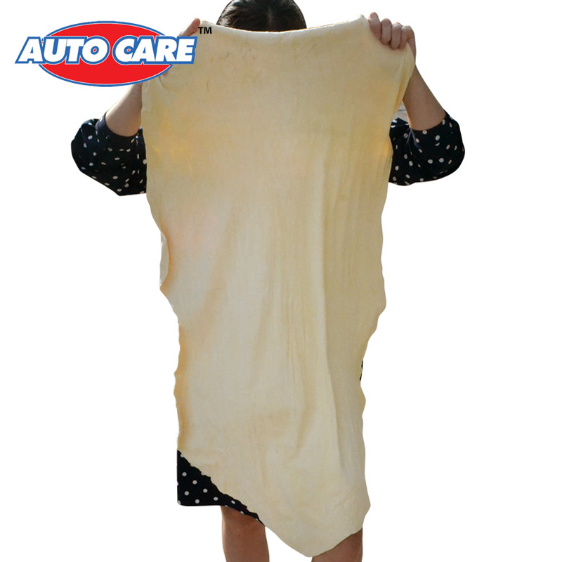 Auto Care Natural Chamois Leather Car Cleaning Cloth Genuine Leather Wash Suede Absorbent Quick Dry Towel