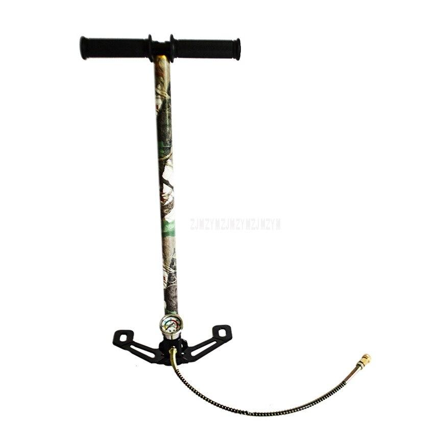 Pompe à Air manuelle haute pression refroidissement par eau pour voiture/moto cyclisme/vélo vélo vtt gonfleur de pneu de sol avec jauge