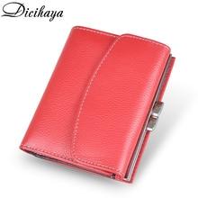 DICIHAYA Frauen Geldbörsen Kleine Mode Taste Leder Geldbörse Frauen Damen Karte Tasche haltegriff Kupplung Weibliche Geldbörse Geld Clip Brieftasche