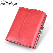 DICIHAYA Women Wallets Small Fashion Button Leather Purse Women Ladies Card Bag handhold  Clutch Female Purse Money Clip Wallet