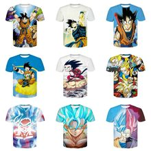 Nuovo Arrivo Divertente Muten 3d Maglietta di Estate Pantaloni A Vita Bassa Short Sleeve Tee Top Uomini/Donne Anime Dragon Ball Z T-Shirts Homme(China)