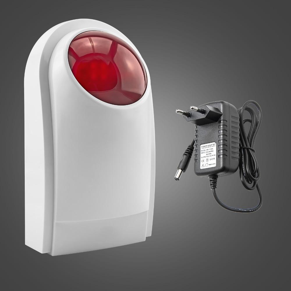 Kerui Esterna Impermeabile Flash Sirena Esterna Senza Fili Suono Strobe Flash Sirena di Allarme Wifi GSM PSTN Sistema di Allarme di Sicurezza Domestica