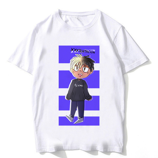 New xxxtentacion t shirt streetwear Man rap xxxtentacion tshirt hip hop T-Shirt Summer Fashion Casual T-shirt For Male Female