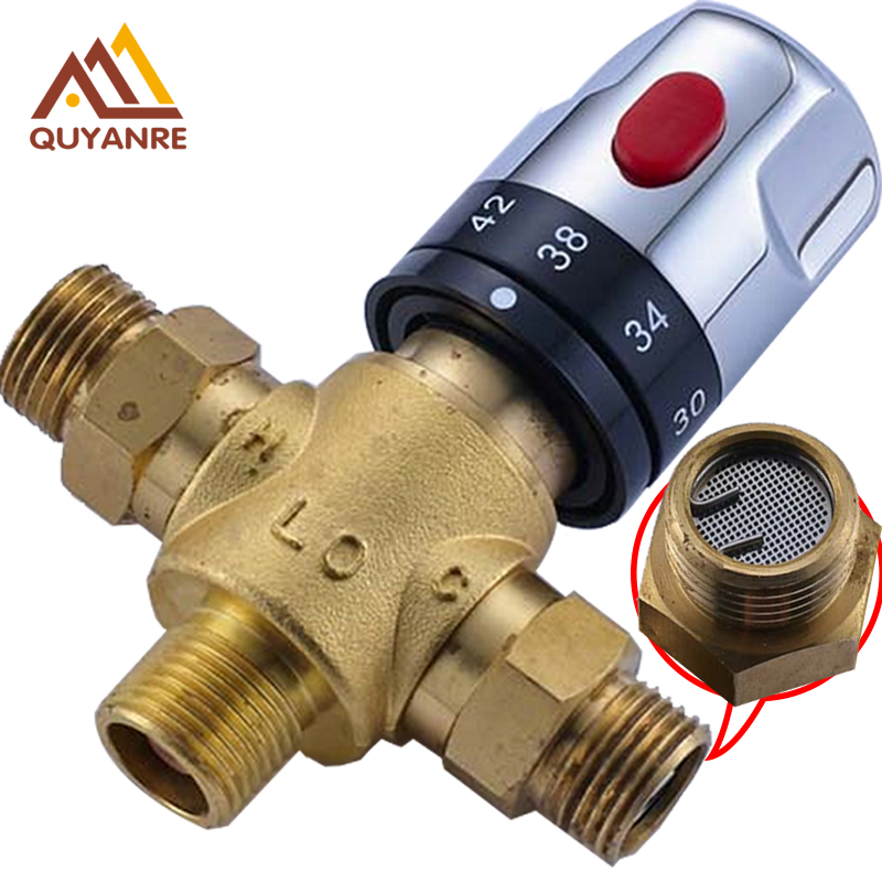 Free Shipping Thermostatic Valve Temperature Mixing Valve for Solar Water Heater Valve Chrome Constant Water Mixers фонокорректоры audio valve sunilda silver chrome