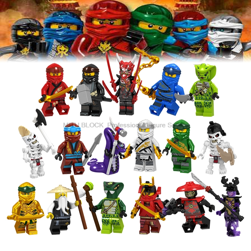 2019 Compatible Legoelys Ninjagoinglys Sets The Heroes Kai Jay Cole Samukai Zane Nya Lloyd Shark Army Jelly Brick Toys