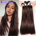 8A Peruvian Straight Hair Bundles #2 4Bundles Peruvian Virgin Hair Straight Unprocessed Human Hair Bundles Peruvian Virgin Hair