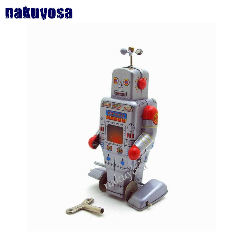antena robot juguetes artesanales coleccin retro clockwork juguetes adultos mainland