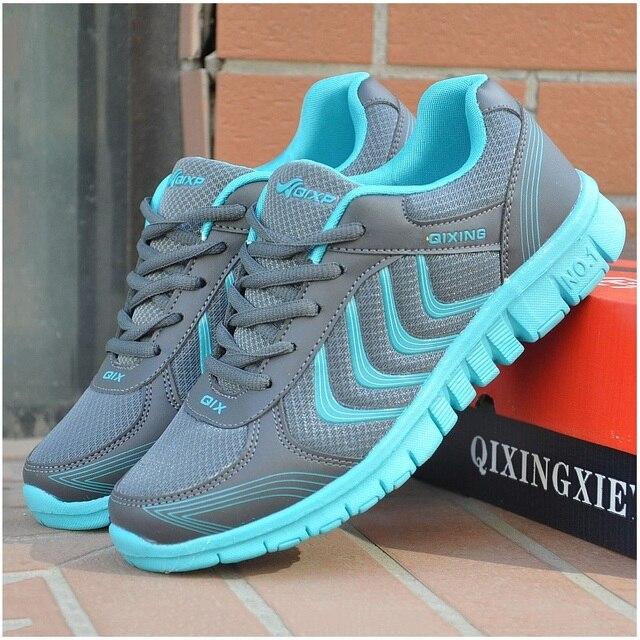2017 Женщин Повседневная Обувь 2016 Новая Мода Женская Обувь Сетка Обувь Женщина С Дышащий Синий