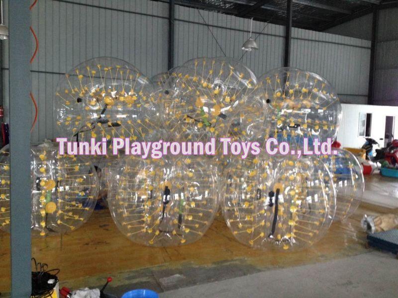 PVC adults bubble soccer suits balls