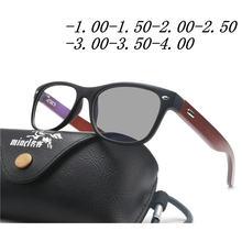 2bca9451ed8 Retro Transition Sunglasses Photochromic myopia Eyeglasses Finished myopia  Glasses for Men Computer Optical Glasses Frame FML