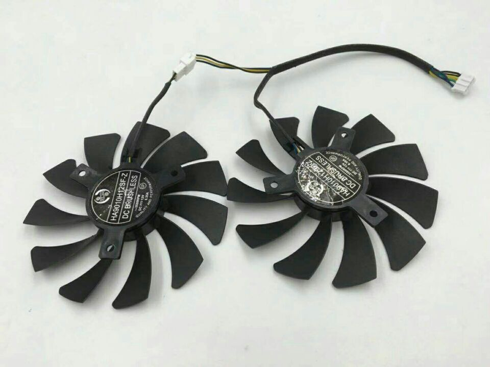New For MSI GTX1060 For Zotac GTX1070 MINI ZT-P10700K-10M HA9010H12F-Z 85MM 40MM DC12V 0.57A GPU Video Graphics Card Cooling Fan image