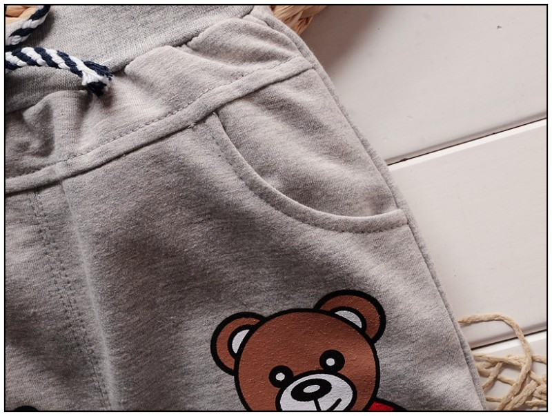 Fashion Cute Cartoon Bear Baby Boys Pants