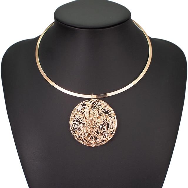 Big Metal Wire Necklaces 3