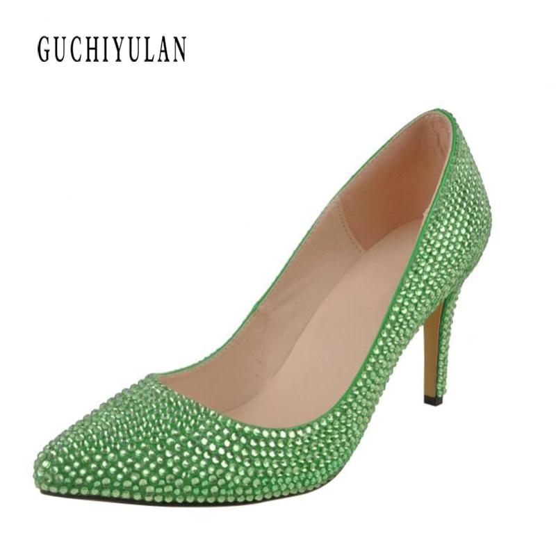 women high heels prom wedding shoes lady crystal platforms rhinestone bridal shoes party diamond high heel