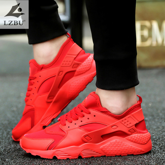 5ced3122da1 2018 autumn sneakers breathable mesh increased shoes men s running shoes  casual fashion large size 39-47 male shoes red T019